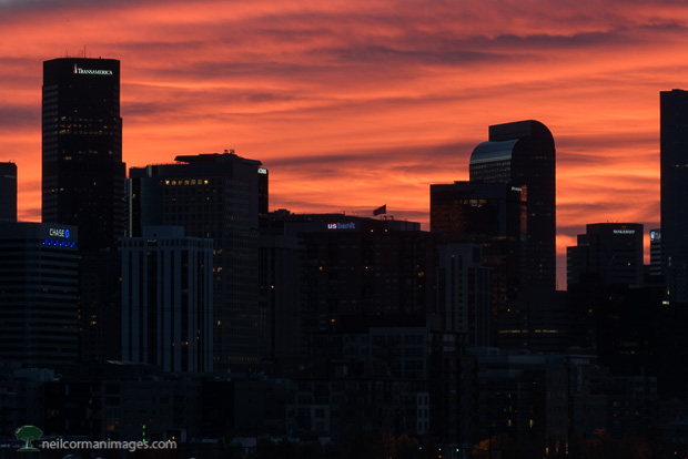 November Sunrise in Denver