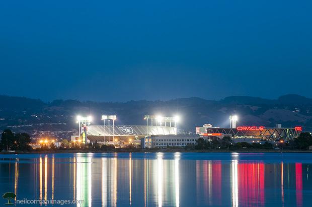 Oakland Coliseum at Dusk