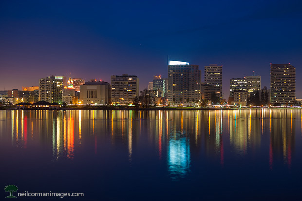 Oakland from Lake Merritt at Dawn