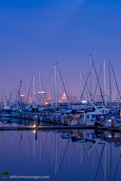 Oakland from Alameda at Dawn