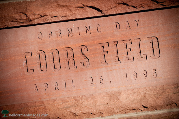 Opening Day at Coors Field Marker