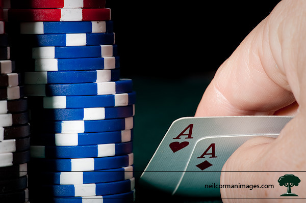 Pocket Aces in poker setting