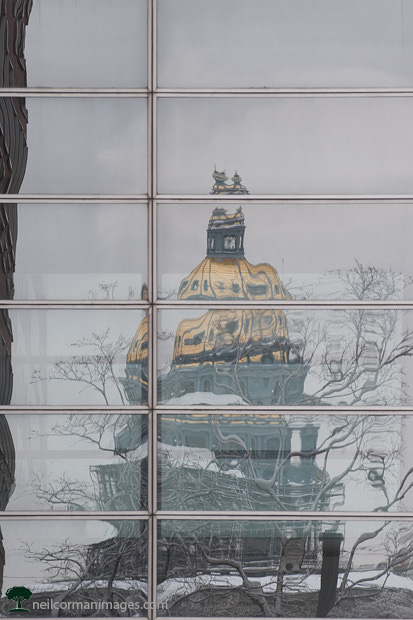 Reflection of Colorado State Capitol Building