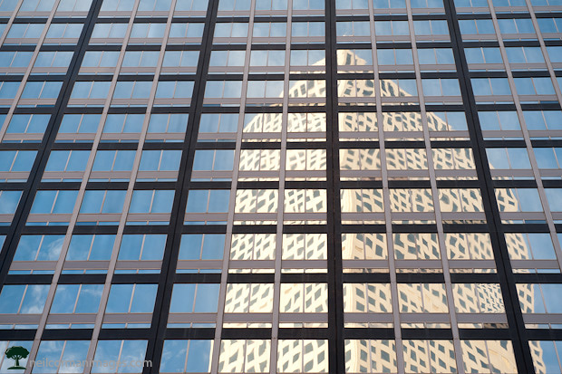Reflection of Republic Plaza in Denver
