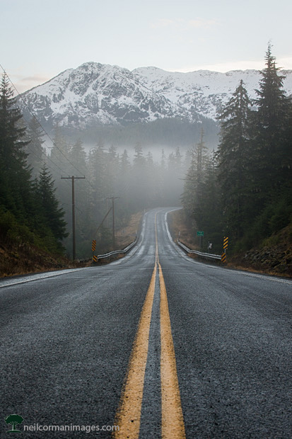 Road to Eaglecrest in Juneau