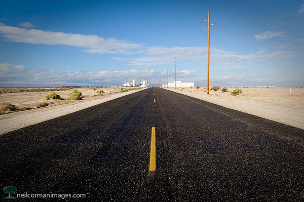 Road to Plaster City, California