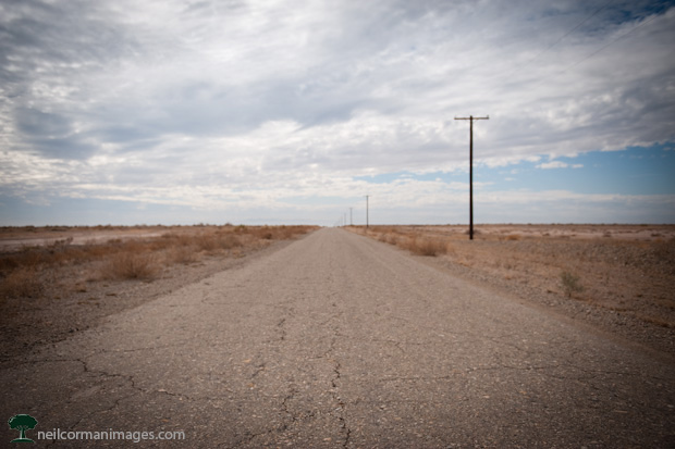 Road to the Salton Sea - California