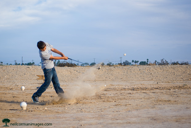 Golfing at the Salton Sea