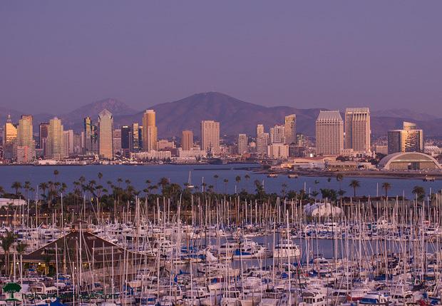 San Diego skyline at Dusk