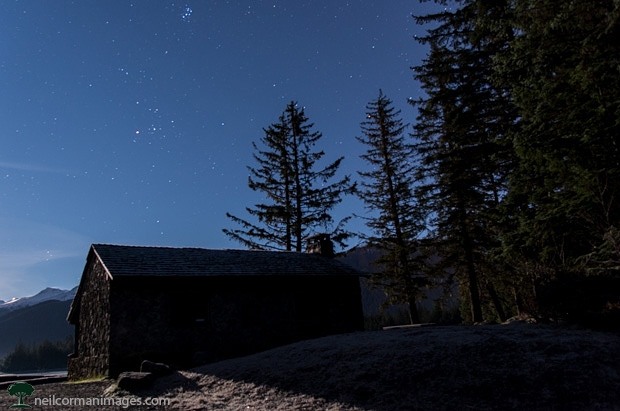 Skater's Cabin at Night - Juneau