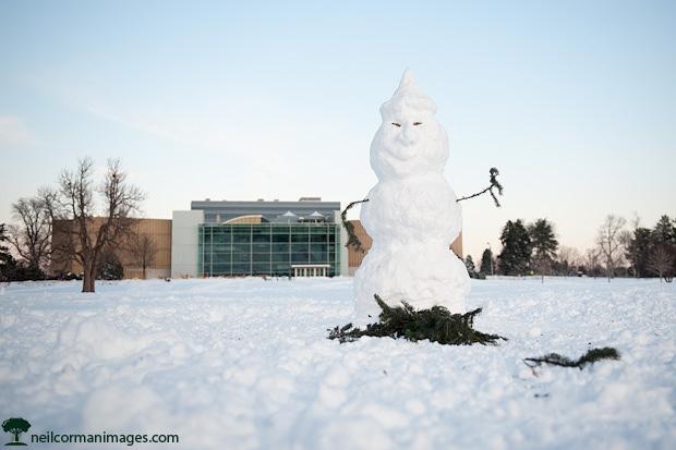 Snowman in Denver City Park
