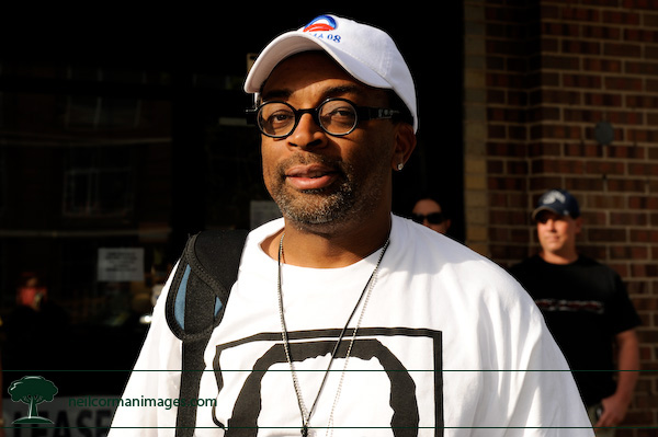 Spike Lee in Denver during the DNC