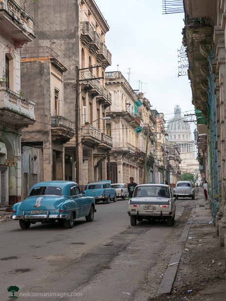 Streets of Havana in the morning