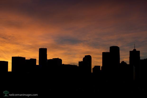 Denver Sunrise in November 2018