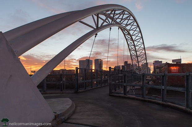 Sunrise at the Highlands Bridge in Denver