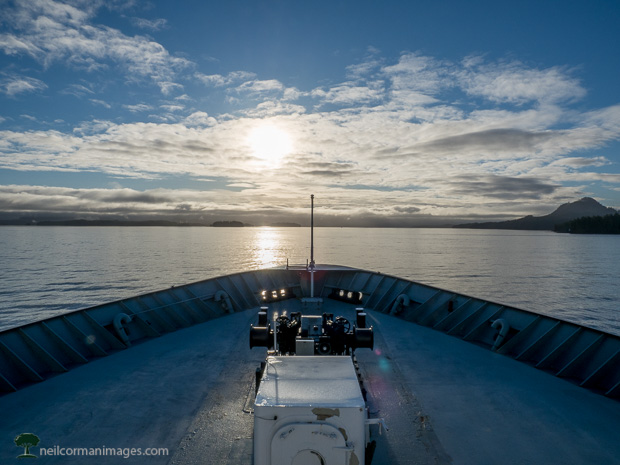 Sunrise along the Inside Passage