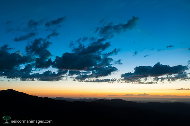 Sunrise from Mt. Evans in Colorado