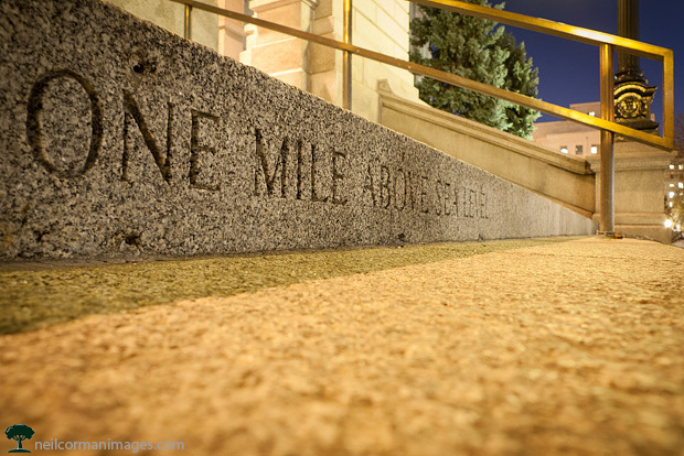 One Mile High at Sunset in Denver