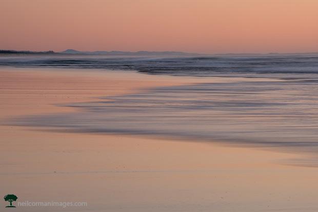 Evening along the Oregon Coast on the Beach
