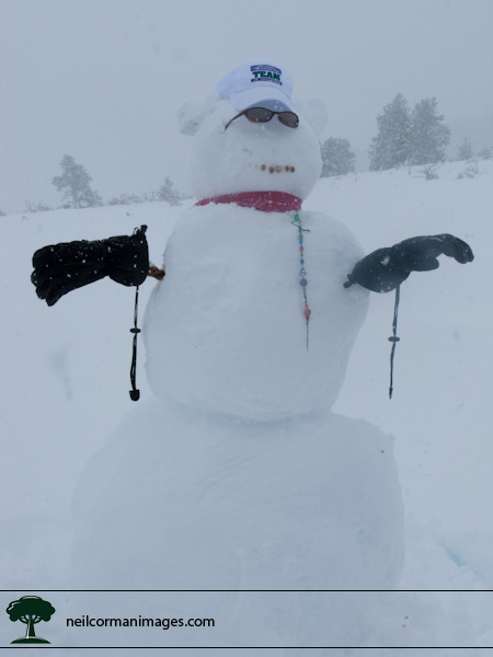 Didnt take long for Cristy, Kelly, Mary, Mike, Shawn and myself to make this snowman