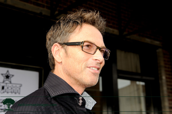 Actor Tim Daly talks to the media during the Democratic National Convention