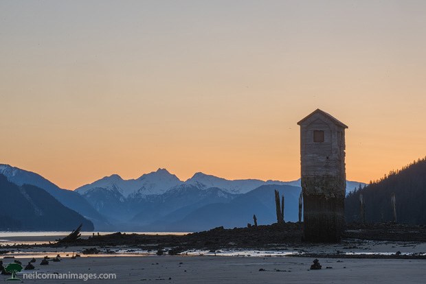 Treadwell Pumphouse at Sunrise