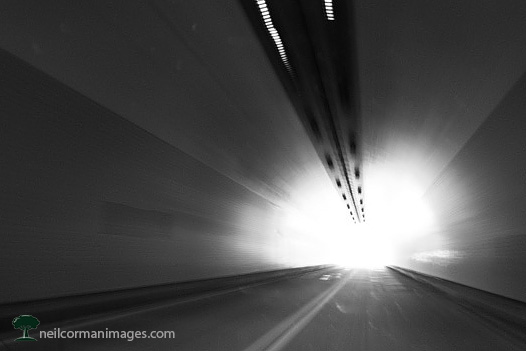 Driving through a tunnel on Interstate