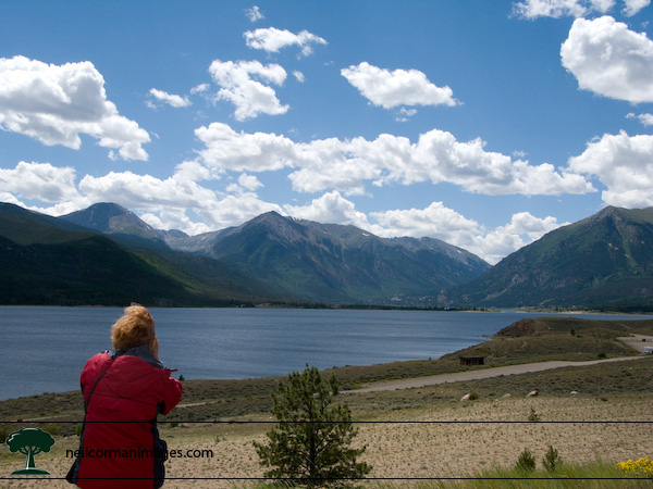 Twin Lakes along Highway 82 in Colorado