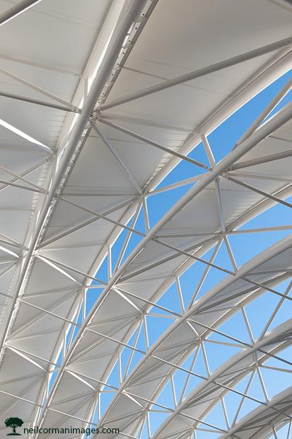 Union Station Denver Canopy Blue Sky