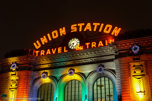 Union Station in Denver at the Holidays