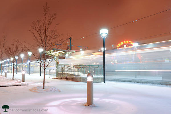 Light Rail at Union Station Denver