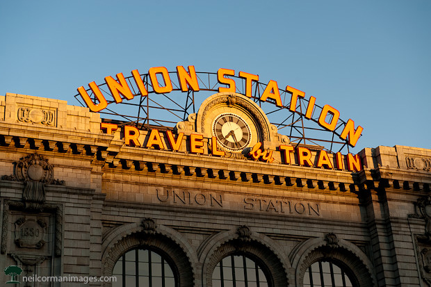 Union Station Denver at Sunrise