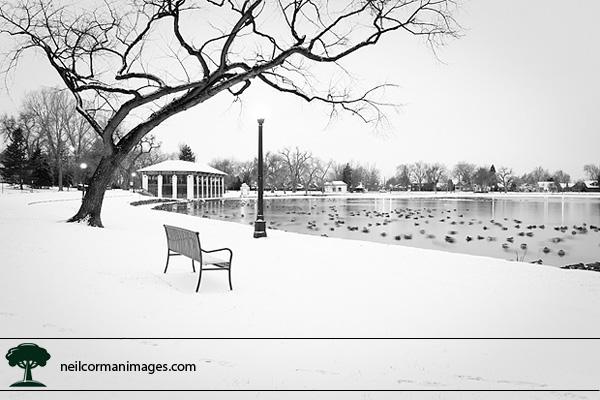 Winter in Washington Park - Denver, Colorado