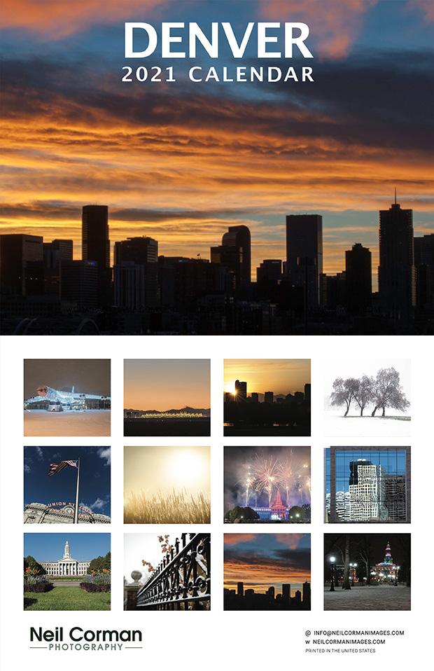 Free 2021 Denver Wall Calendar